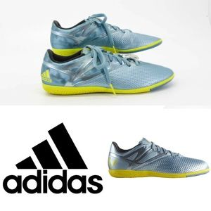 ADIDAS MESSI 15.3 INDOOR BLUE SOCCER SHOES 10 1/2